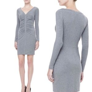DVF | Greece Long-sleeve Ruched Front Dress
